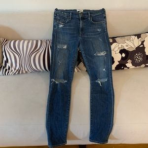 AGOLDE distressed jeans with mid rise, size 28